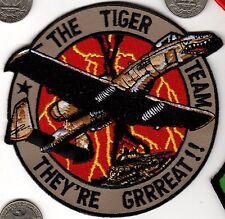US Air Force Squadron Patch The Tiger Team THEY'RE GREAT !! Tony Frosted Flakes