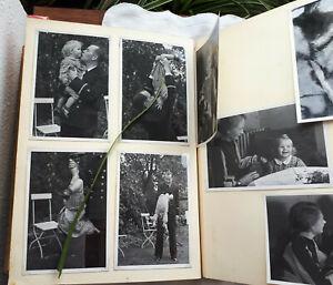 Art Déco Fotoalbum Baby Kind Eltern  Vater Marine schöne Fotos betuchte Fam.