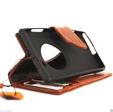 genuine Leather hard case for Nokia Lumia 1020 book Wallet cover magnet slim new