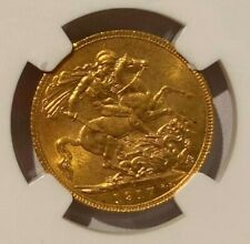 CANADA GEORGE V GOLD SOVEREIGN 1917 C - NGC MS 64