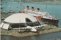 Vintage Postcard-THE SPRUCE GOOSE, AND QUEEN MARY *Free Shipping*