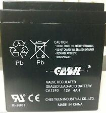 Casil CA1240 12V 4AH First Alert ADT Alarm Replacement Battery 2017 Brand New