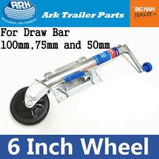Ark Jockey Wheel 6 inch Swing Up Trailer Boat Swivel Wheels Stand U Bolts JWE6SU