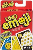 New Mattel Games UNO Emojis Original Pack, Multicolor, Special Rule, Extra Cards