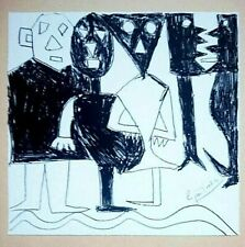 Eugene ionesco expresión plena handsign ORIG litografía 1983 Narrenschiff!!!