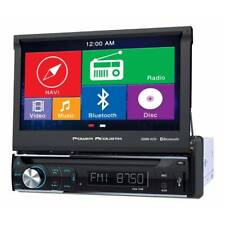 "Power Acoustik PDN-726B 1-DIN GPS NAV DVD Digital Media Receiver 7"" Flip-out LCD"