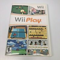 Wii Play Nintendo Video Game Complete in Case With Disc & Manual -Exc Condition