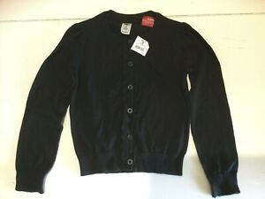 H&T Girl's Black Cardigan - Size 6 - NEW WITH TAGS