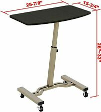 SHW Height Adjustable Mobile Laptop Stand Desk Rolling Cart, Height Adjustable