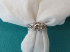 LeVian 14K WHITE GOLD CHOCOLATE DIAMOND ENGAGEMENT RING 1/2 CT SI1-2