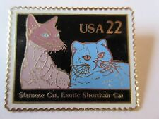 1987 #2372 22c Siamese Exotic Shorthair Cat Stamp Pin Usps Post Office New