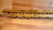 Antique Romanian wood hanger handmade clothes display coupling mechanism