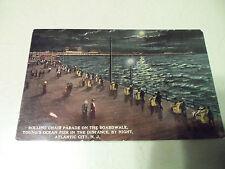 1913 Rolling Chair Parade on Boardwalk Young's Ocean Pier Atlantic City NJ PC