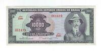 10000 Cruzeiros Brasilien UNC 1966 C060 / P.182Ba - Brazil Banknote - SCARCE