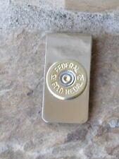 Federal Gold Metal 12 Gauge Shotgun Shell Bullet Money Clip Trap Shooting