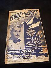 Partition Etoile des neiges Jacques Hélian Music Sheet