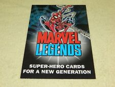 2001 TOPPS Marvel Legends Trading Cards Promo Sheet (Spider-Man, Iron Man, Hulk)