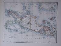 1895 Viktorianisch Landkarte Neu Guinea Neu Großbritannien Neu Pommern