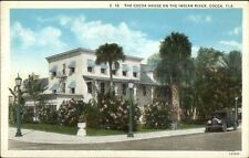 Cocoa Fl Cocoa House on Indian River c1920 Postcard #1