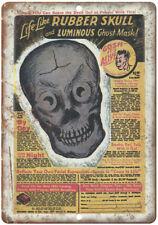 "Life Like Ruber Skull Comic Book Ad 10"" X 7"" Reproduction Metal Sign J105"