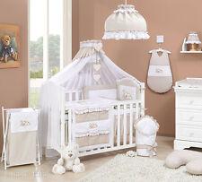 Lit à tiroir blanc pour bébé (set complet) set XXL de 16 pièces,matelas,parure
