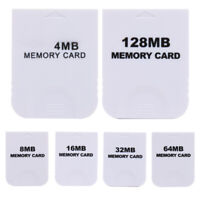 /LOT Practical Memory Card for Nintendo Wii Gamecube GC NGC Game White NEW