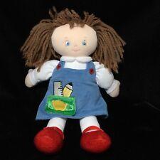 """Gund Tora Doll School Girl Blue Dress Plush Cloth Soft Toy 58645 10"""" Stuffed"""
