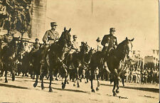 MILITARY : French Horseback parade led by Marshall Foch? RP
