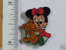 Baby Minnie Mouse with Brown Teddy Bear Lapel Pin  (104)