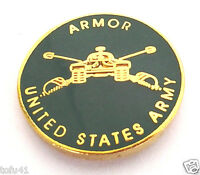 ARMOR UNITED STATES ARMY (SMALL) Military Hat Pin 14478 HO