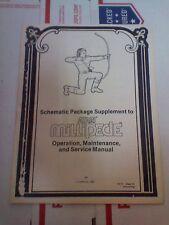 Atari Millipede schematics arcade manual