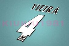 Arsenal Vieira #4 PREMIER LEAGUE 04-05 Name/Number Set