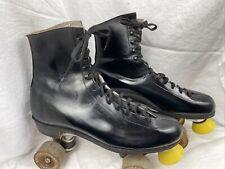 Vintage Black Roller Derby Size 10 Woman Quad Skates