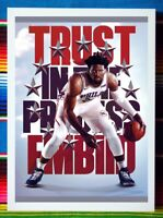 ✺Framed✺ JOEL EMBIID Philadelphia 76ers NBA Basketball Poster 62cm x 44cm x 3cm