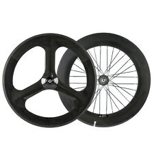 Carbon Track Bike Wheels Chinese 3 spoke Wheel & 88mm Carbon Wheelset Fixed Gear