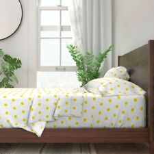 One Inch Dot Retro Dots Polka Dots 100% Cotton Sateen Sheet Set by Roostery