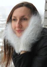 100%Longhair goat fluff mittens hand knitting Furry Fetish Mohair Angora sweater