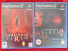 FORBIDDEN SIREN 1 + 2 - PlayStation 2 PS2 ~PAL~ Collection ~ Horror/Action Games