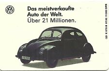 RARE / CARTE TELEPHONIQUE - COX VW COCCINELLE / VOLKSWAGEN / PHONECARD