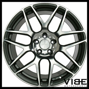 """20"""" ACE MESH-7 GREY MACHINED CONCAVE WHEELS RIMS FITS FORD MUSTANG SHELBY GT"""