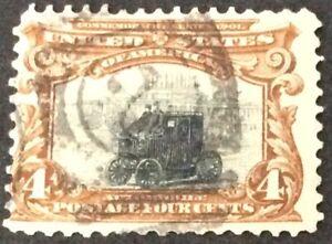 1901 4c Pan-American Exposition Commemorative single, Scott #296, Used, VG-F