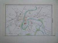 DURHAM TOWN PLAN  DATED 1890- THE ROYAL ATLAS-35cmx22cm VGC