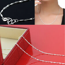 Charm Lady's Fashion 925 Silver 18 Inch Ingot Chain Necklace Exquisite Jewelry