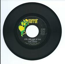 "1966 TOM JONES ""GREEN, GREEN GRASS OF HOME"" 45rpm 7"""