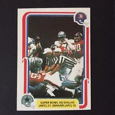 1980 Fleer SUPER BOWL 12  #68   Dallas Cowboys Denver Broncos