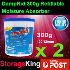 2x DampRid 300g Refillable Moisture Absorber Mini Air Dehumidi Quite Bathroom AU