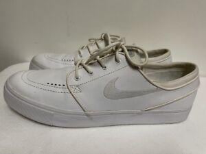 nike zoom sb stefan janoski 616490-110 white leather trainers size uk 11 eu 46