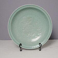 Chinese  Monochrome  Green  Glaze  Porcelain  Plate      M1606