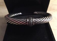 DAVID YURMAN CABLE CLASSICS BLACK DIAMOND BRACELET