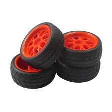 Y Type Red Wheel Rims & Rubber Square Tires for RC 1: 10 on road Car 4pcs